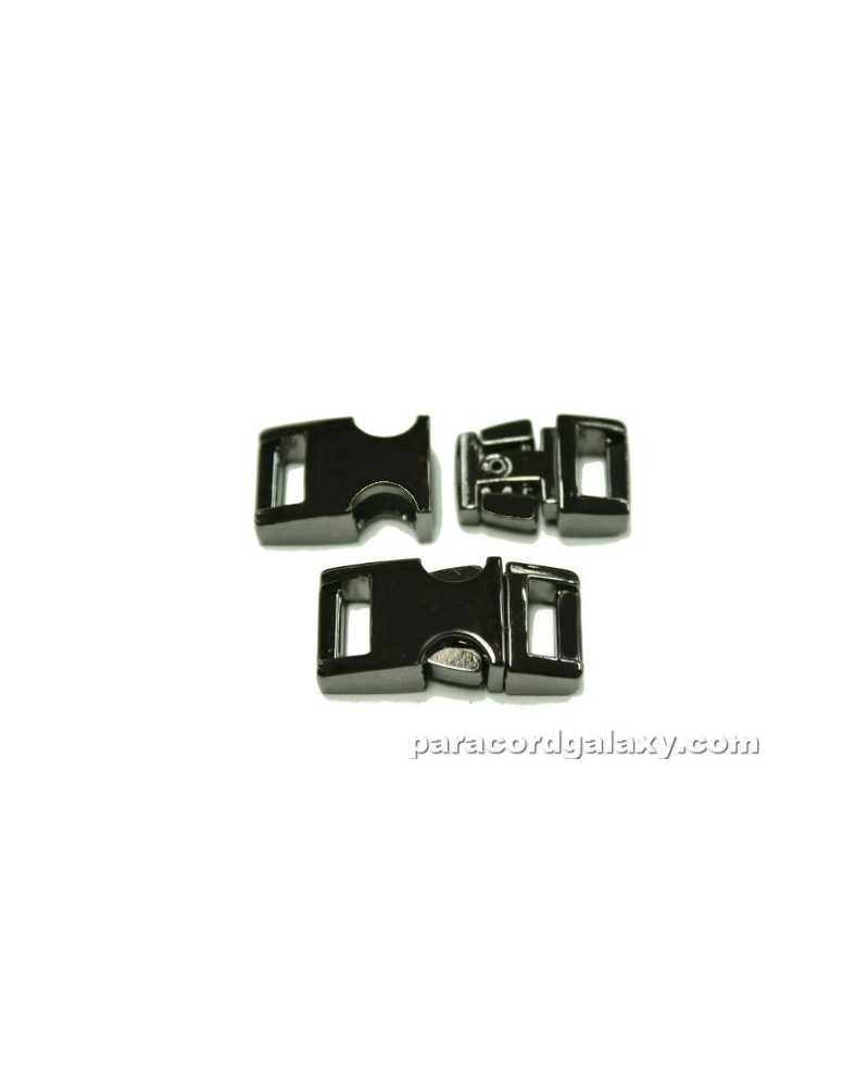 "BZ 3/8"" - MIRROR BLACK ZINC - Side Release Buckle"