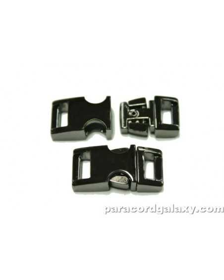 BZ 3/8 IN - MIRROR BLACK ZINC - Side Release Buckle
