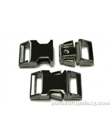 BZ 5/8 IN - MIRROR BLACK ZINC - Side Release Buckle