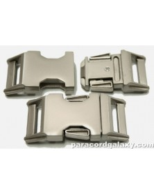 BZ 3/4 IN - HIGH POLISH SATIN PLATED ZINC - Side Release Buckle