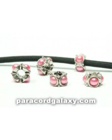 Single Bead Medium Pink Pearled