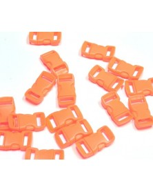 3/8 IN - NEON ORANGE - Side Release Buckles