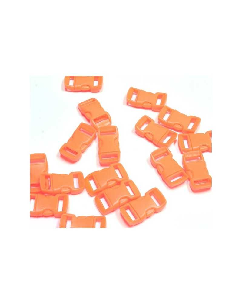 """10 PACK - 3/8"""" - NEON ORNAGE - Side Release Buckles"""