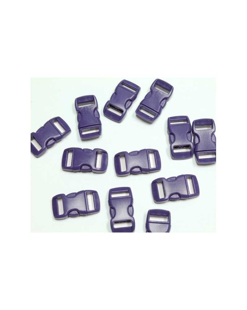 "10 PACK - 3/8"" - PURPLE - Side Release Buckles"