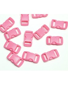 "10 PACK - 3/8"" - PINK - Side Release Buckles"