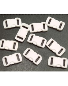 "10 PACK - 3/8"" - WHITE - Side Release Buckles"
