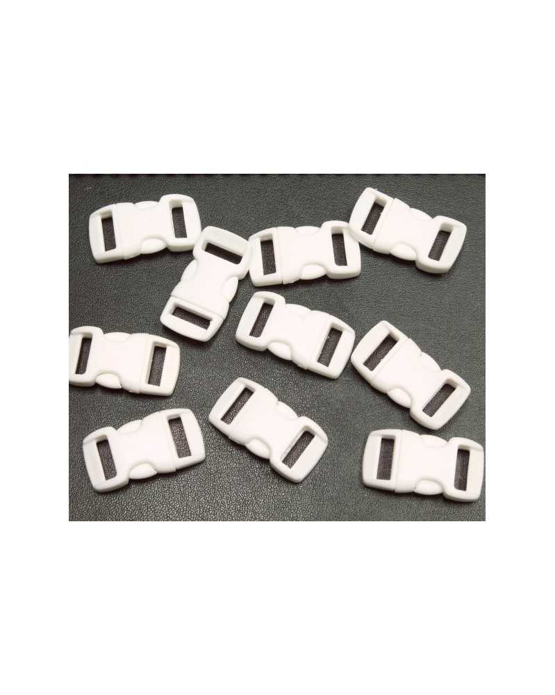 """10 PACK - 3/8"""" - WHITE - Side Release Buckles"""