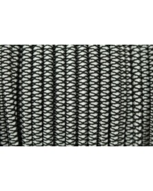 1/8 IN Shock Cord Diamonds Black with Silver Grey USA Made