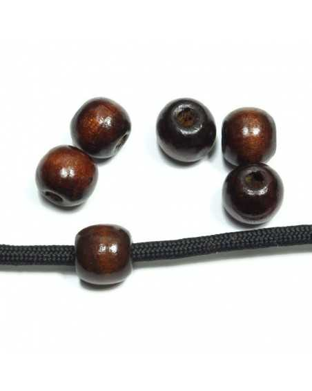 Dark Wood Bead/Charm for Paracord