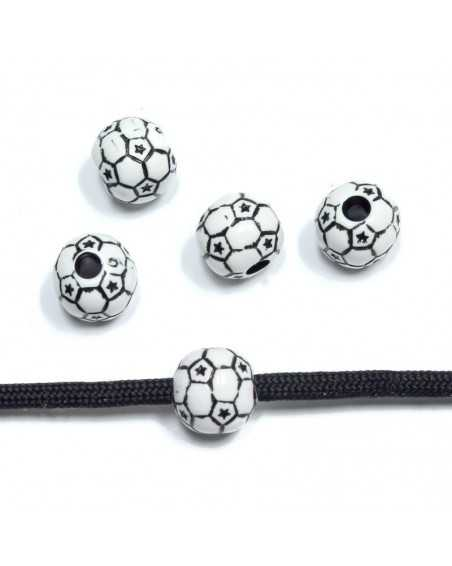 Soccer - Acrylic - Bead/Charm for Paracord