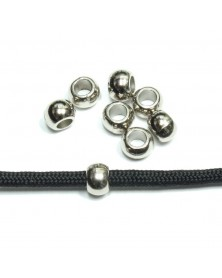 10 PACK - Acrylic Bead Silver Color
