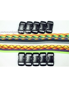 550 Paracord - 50/50 (A) Solid & Multi-Color Bracelet Kit 4