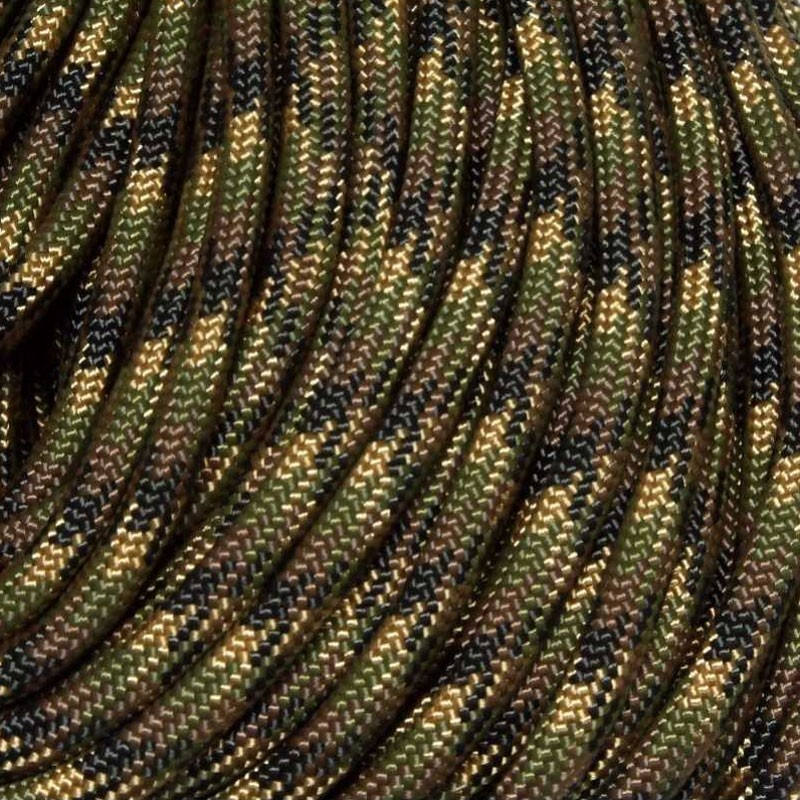 550 Paracord CAMO Ground War Made in USA 300 ft