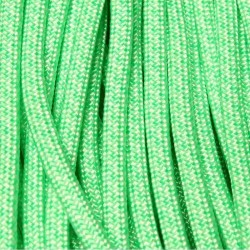 550 Paracord mint/white Diamonds 100 ft Made in USA