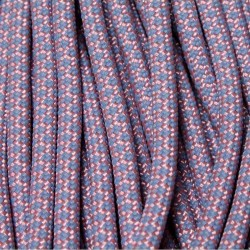 550 Paracord Pink FS lavender/purple Diamonds 100 ft Made in USA
