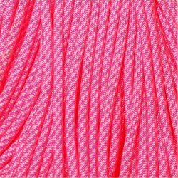 550 Paracord Neon Pink Candy Cane Made in USA