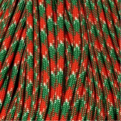 300 Ft 550 Paracord Holly Jolly Made in USA