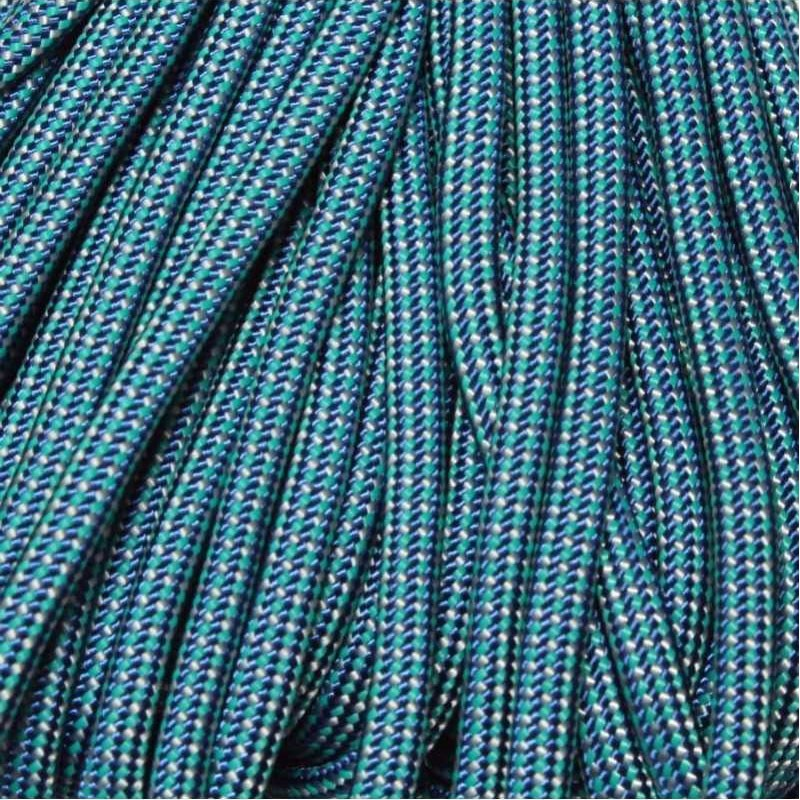 550 Paracord Marine/Teal/White Made in USA