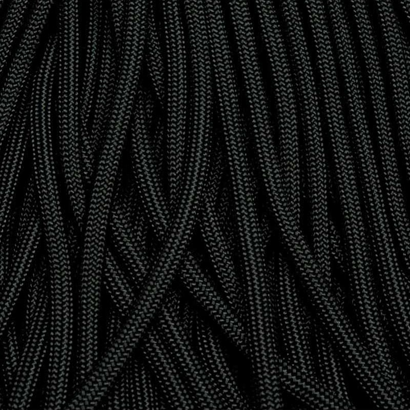 Jet Black 550 Paracord Made in USA