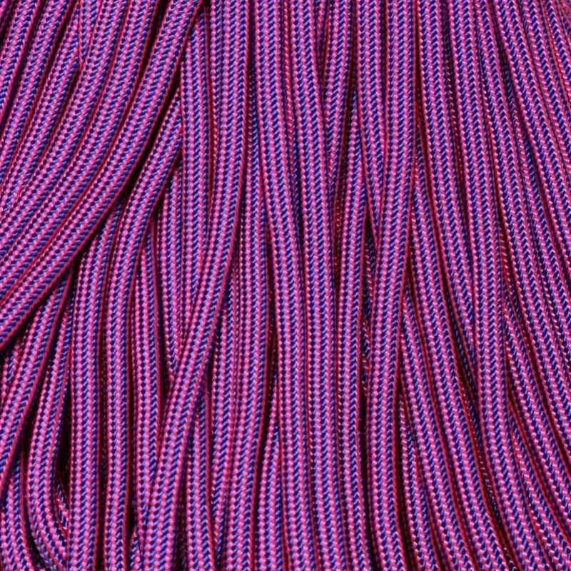 Flim Flam Mind Bender Electric Blue and Neon Pink 550 Paracord Made in USA