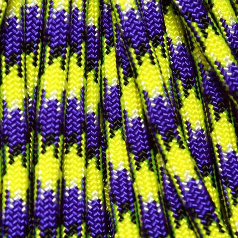 550 Paracord Barney's Neon Nightmare 100 ft Made in USA