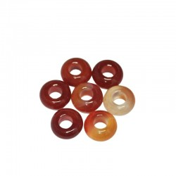 Red Banded Agate Gemstone Bead