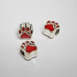Red Paw Bead