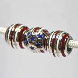 Red, White, and Blue Bead