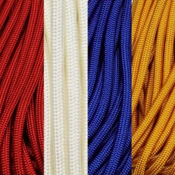 7x100 Ft 550 Paracord Flag Colors Made in USA