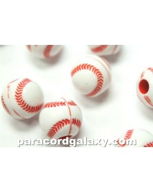 Baseball - Acrylic - Bead/Charm for Paracord
