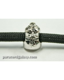 Snowman - Antique Silver Plated - Bead/Charm for Paracord