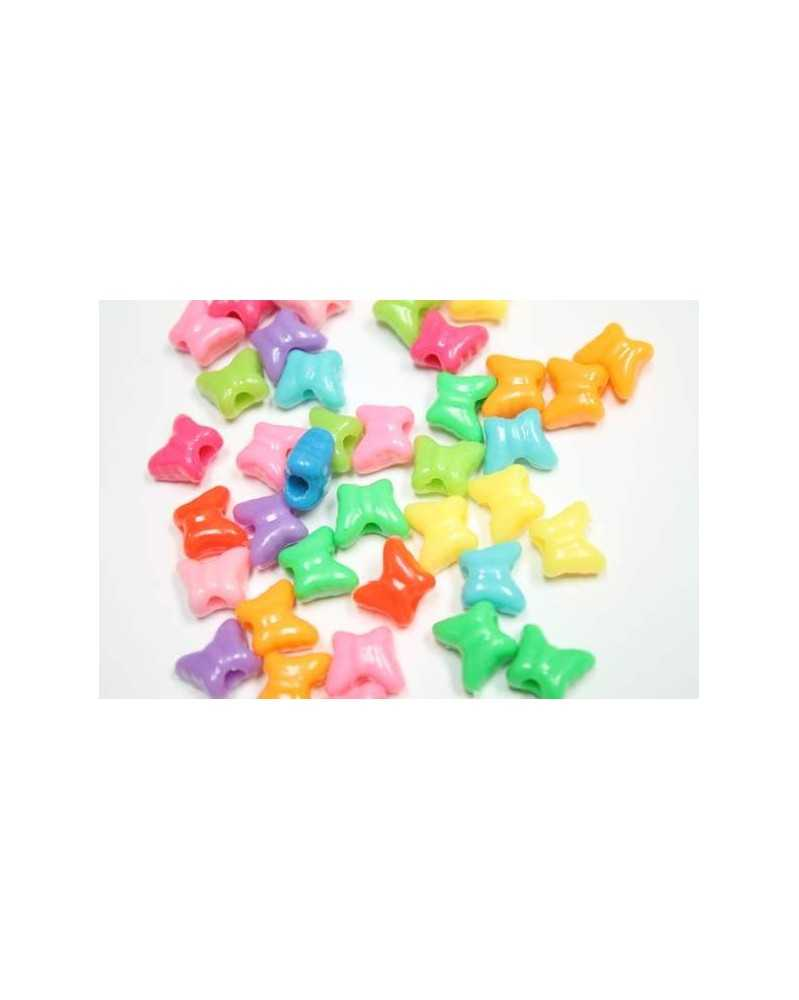 20 PACK - Butterfly Beads (Assorted Colors) - Plastic Beads