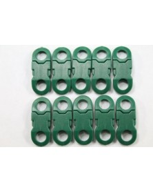 "10 PACK - 1/4"" - GREEN - Side Release Buckles with Round Ends"