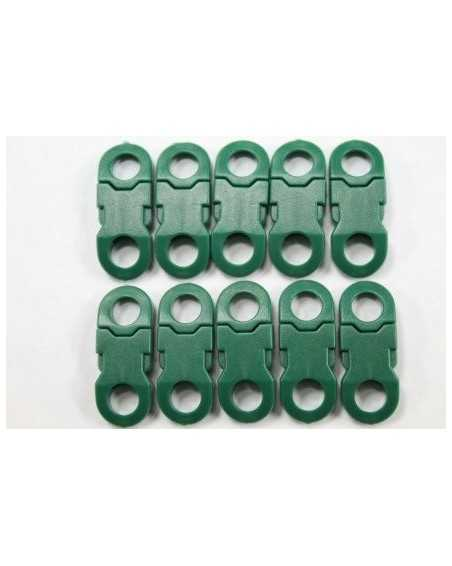 1/4 IN - GREEN - Side Release Buckles with Round Ends