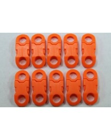 "10 PACK - 1/4"" - ORANGE - Side Release Buckles with Round Ends"