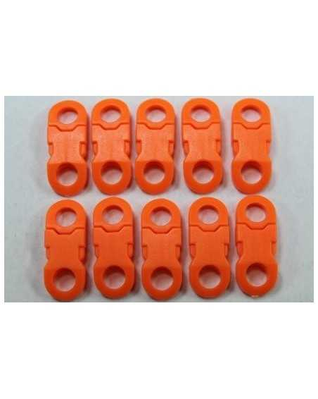1/4 IN - ORANGE - Side Release Buckles with Round Ends