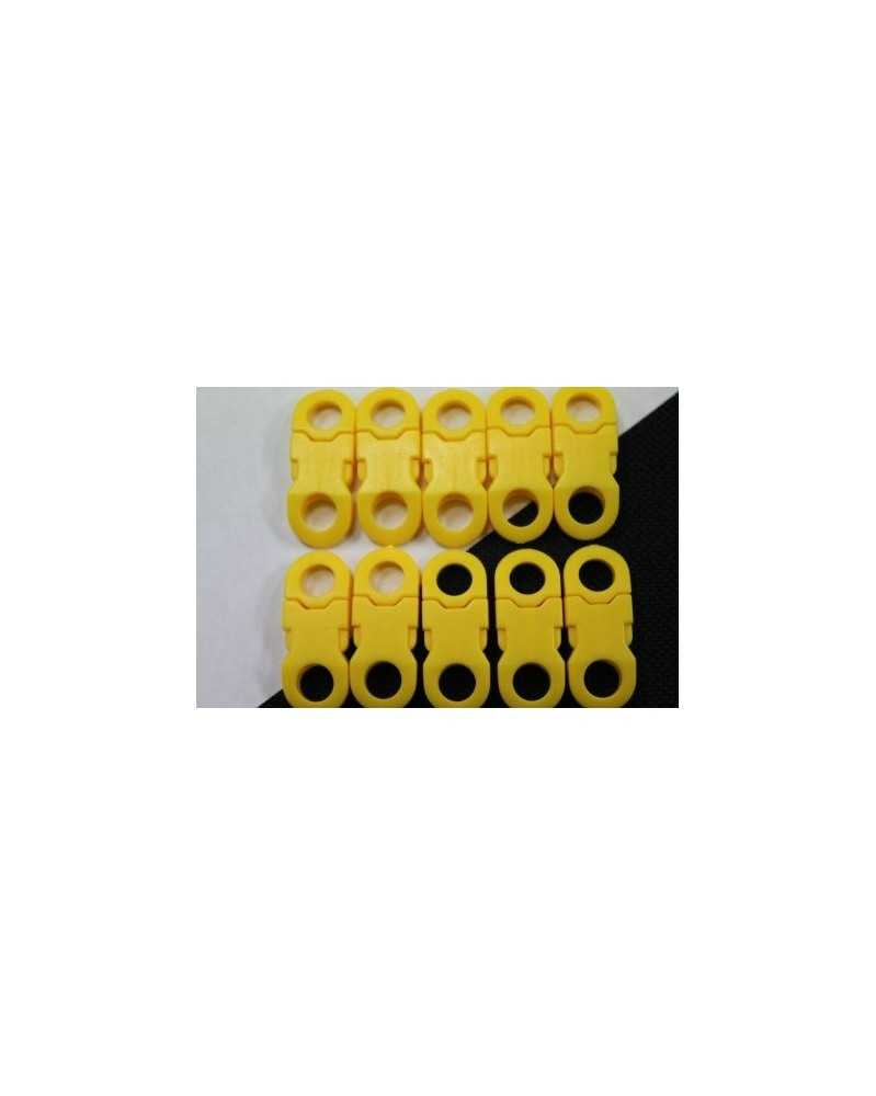 "10 PACK - 1/4"" - YELLOW - Side Release Buckles with Round Ends"
