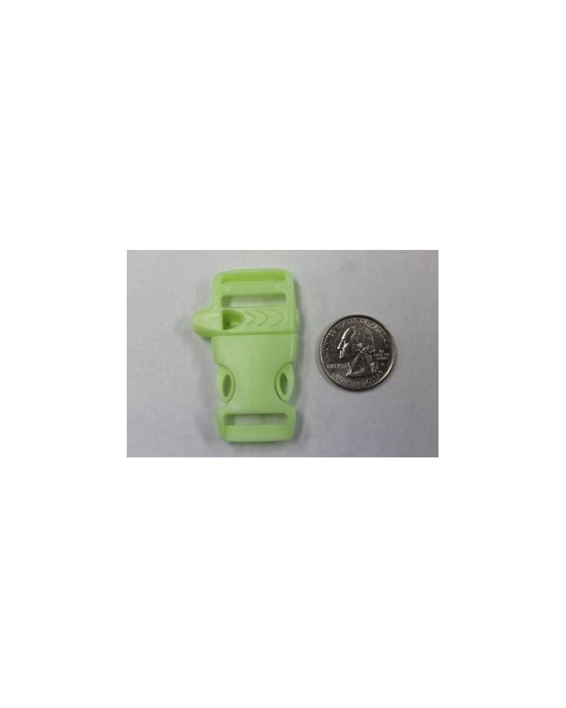 "10 PACK - 5/8"" - FLAT GLOW in the DARK WHISTLE - Side Release Buckle"