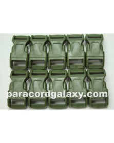 1/2 IN - MILITARY GREEN - Side Release Buckles