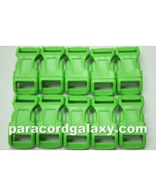 "10 PACK  -  1/2"" - NEON GREEN - Side Release Buckles"