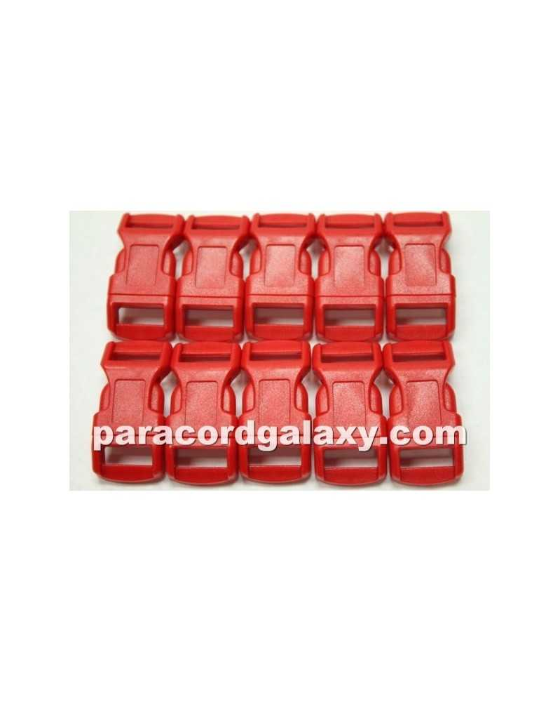 "10 PACK - 1/2"" - RED - Side Release Buckles"