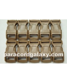 "10 PACK - 1/2"" - BROWN - Side Release Buckles"