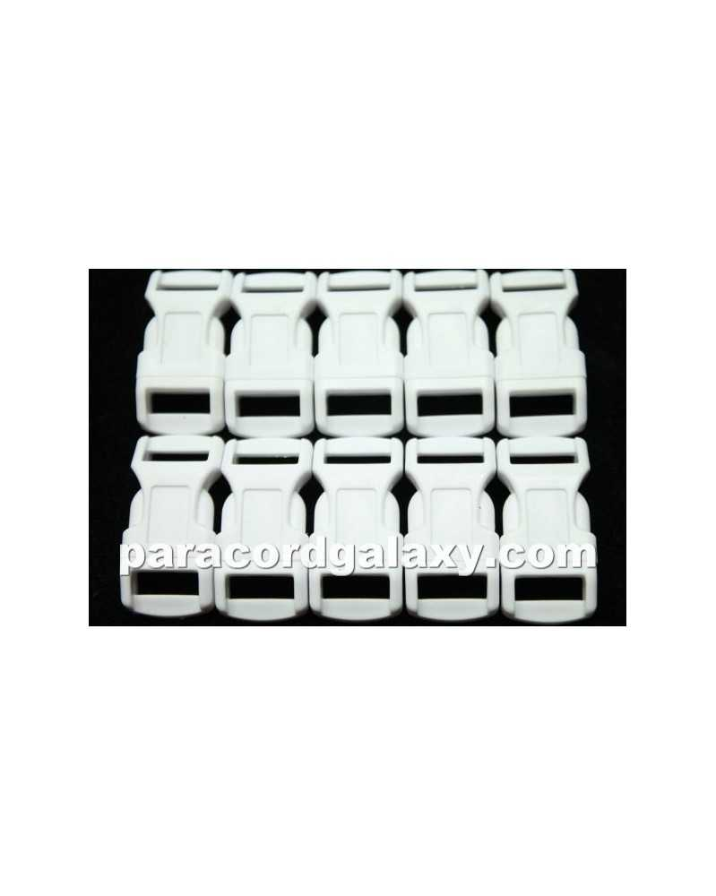 "10 PACK - 1/2"" - WHITE - Side Release Buckles"