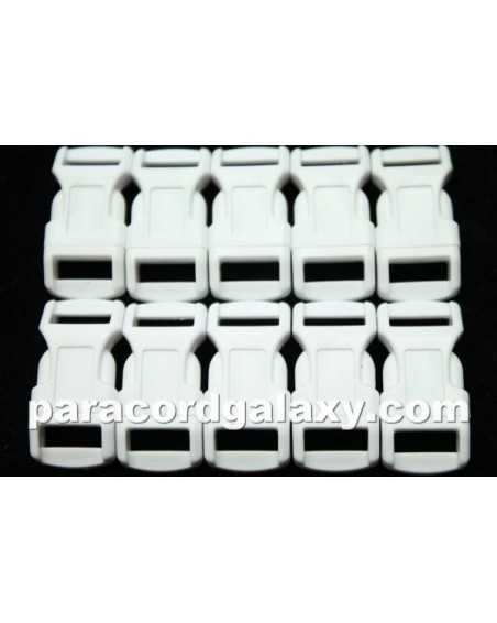 1/2 IN - WHITE - Side Release Buckles