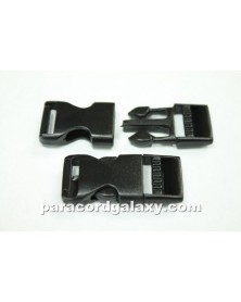 "10 PACK  -  5/8"" - FLAT Side Release Buckles - BLACK"