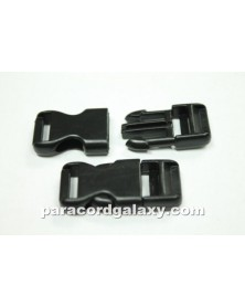 "10 PACK - 1/2"" - FLAT Side Release Buckles - BLACK"