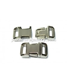 BZ 1/2 IN - HIGH POLISH NICKEL PLATED ZINC - Side Release Buckle
