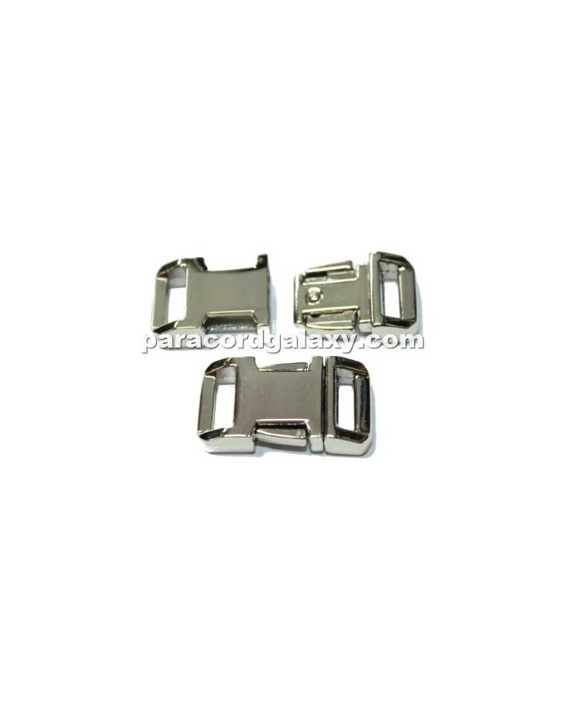 "BZ 1/2"" - HIGH POLISH NICKLE PLATED ZINC - Side Release Buckle"