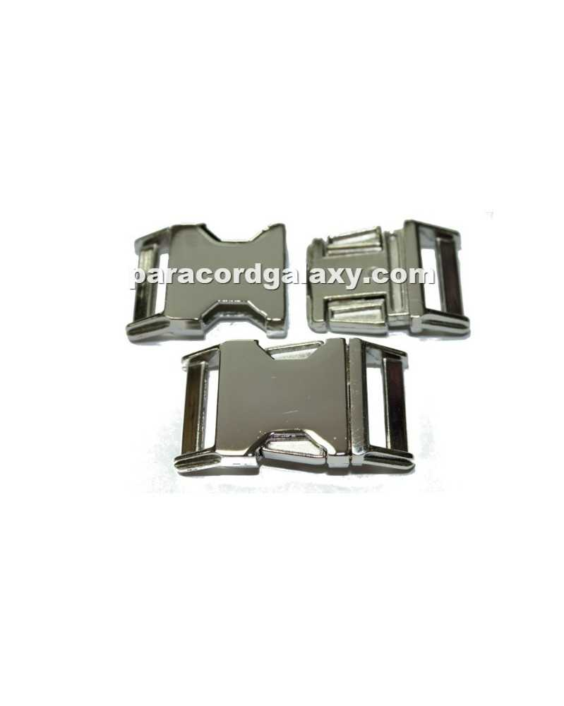 "BZ 1"" - HIGH POLISHED NICKLE PLATED ZINC - Side Release Buckle"