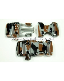 "Flat 5/8"" Urban Camo (Narrow Pattern) Whistle Buckle"